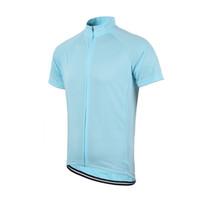 camisas de ciclismo unisex venda por atacado-Envio Atacado-Frete Grátis das Mulheres dos homens Sólidos Ciclismo Manga Curta Jersey Comprimento Zíper Unisex Bicicleta Jersey