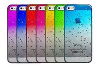 Wholesale Galaxy S4 3d Raindrop - Gradient RainDrop Hard PC Case For iPhone 4 4S 4G 5 5C 5 5S 6 4.7'' Plus 5.5'' 6+ 3D Samsung Galaxy S3 S4 S5 Rain Drop Clear Plastic Cover