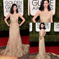 pleine dentelle rouge perlée achat en gros de-Eva Green 2016 73e Golden Globe Awards Robes de célébrités pour tapis rouge