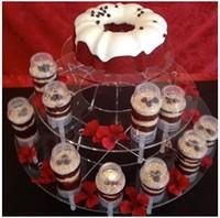 ingrosso la spinta di torta spinge i contenitori-2015 vendita calda di plastica commestibile pop-up contenitori di spinta torta torta pop contenitore per decorazioni per feste forma rotonda strumento CCA1683 650 pz