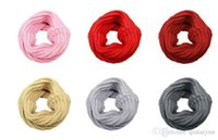 Wholesale Wholesale Neck Silk Scarves - Newest Women Winter Warm Infinity Knit Cowl Neck Long scarf Shawl infinity Scarf DHL free shipping 50PCS LB14