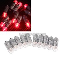 Wholesale Shining Tail Light - H3#R 10 Pcs Mini Shining Balloons Lights LED Bulbs with Tail for Party Red Light