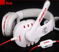 Wholesale Somic G923 - Noise reduction leather earmuffs&headphones Somic G923 Stereo Gaming Headphone with Microphone game hot sale PC Headset