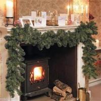 Wholesale Christmas Tree Decorations Luxury - 2014 New Luxury 2.7M X 25CM Thick Mantel Fireplace Christmas Garland Pine Tree Indoor Christmas Decoration