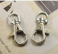 Wholesale Black Metal Swivel Clip - Free shipping 5000pcs lot 3.8cm Key Rings Lobster Clasps Swivel Trigger Clips Snap Hooks Keychain Key Ring
