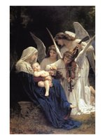 Wholesale Handpainted High Quality Bouguereau Paint - William Adolphe Bouguereau Painting,Song of The Angels by William Adolphe Bouguereau art on canvas,High quality,Handcrafted