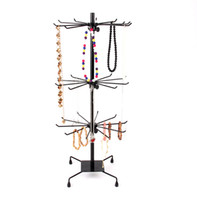 Wholesale Rotating Jewelry Necklace Stands - 70cm Rotate Iron Pendant Necklace Earring Bracelet Jewelry Display Stand Holder Sweater Chain Phone Case Socks Lipstick Storage Shelf Rack