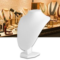 JAVRICK Faux Leather Mannequin Jóias Colar Display Holder Neck Bust Stand Jóias Display Stand 2S9698