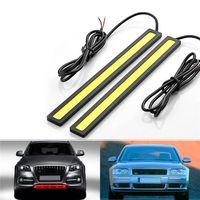 tira de led más delgada al por mayor-2 * 17CM COB LED universal Ultra-delgado Digid tira del coche luz diurna del coche DRL advertencia Niebla lámpara decorativa