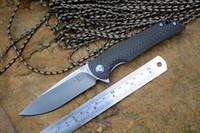 Wholesale Ceramic Combat Knives - CH3510 Folding knife VG10 blade ceramic ball bearing washer Carbon fiber handle outdoor camping hunting pocket knife EDC tools