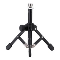 Wholesale Mic Holders - High Quality MS-12 Mini Foldable Desktop Tabletop Tripod Microphone Mic Stand Holder