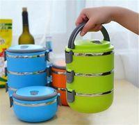 mess box venda por atacado-Caixa de Lata Térmica Isolada Bento Armazenamento De Piquenique Confusão Tin Food Jar Multilayer Aço Inoxidável Para Estudantes Crianças Acampamento Ao Ar Livre