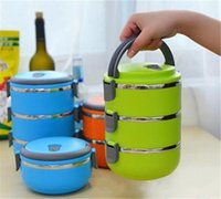 Wholesale Mess Tins - Thermal Insulated Lunch Box Bento Picnic Storage Mess Tin Food Jar Multilayer Stainless Steel For Students Children Outdoor Camping