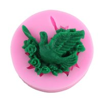 Wholesale Pigeon Shape - Cute Pigeons Shape Silicone Candy Molds Ice Tray Handmade Soap Mold Cake Baking Pastry Tools Q030