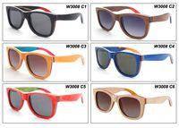 Wholesale Skateboard Wood Sunglasses - skateboard wood sunglasses Vintage wood glasses for man and wom Pure manual wood sunglasses Polarized sunglasses W3008 driving