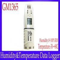Wholesale Digital Humidity Data Logger - temperature recorder Mini digital humidity temperature data logger GM1365 range -30~+80C