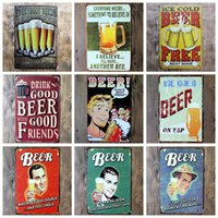 Wholesale Metal Bookmarks Cross - Beer Metal Painting For Home Living Room Bar Coffee House Decoration Vintage Style Tin Sign Many Styles 4 99ljc C