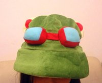 Wholesale League Cosplay Hot - Hot game League of Legends cosplay cap Hat Teemo hat Plush+ Cotton LOL plush toys Hats