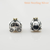 Wholesale Pandora Carriage - ROYAL CARRIAGE CHARM DIY Beads Solid 925 Silver Not Plated Fits Pandora Bracelet&Charms