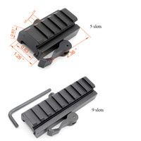 Wholesale Quick Weaver - 20 mm Picatinny Weaver Rail Baese 5   9 slots QD Quick Release Riser Scope Mount Adapter Free Shipping
