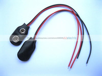 Wholesale Snap Lead Wire - 50 Pcs 9 Volt 9V Battery Snap on Clips I Type with 100mm Lead Wire