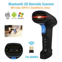 Atacado- YK-BWM3 Portable Handheld Bluetooth 2D Scanner de código de barras para IOS Android Windows 2D Scanner Infrared LED 2D Bluetooth Scanner