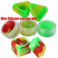 bitkisel kaplar toptan satış-Toptan Balmumu Konteyner silikon kutusu 3 türleri Silikon konteyner yapışmaz gıda sınıfı kavanoz depolama kavanoz thic yağ bitkisel buharlaştırıcı vape dab aracı