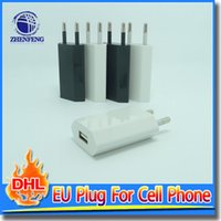 Wholesale Portable Charger S2 - EU Plug USB Power Home Wall Portable Charger Adapter For Samsung Galaxy S2 S3 S4 HTC Cell Phones