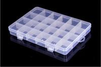 Wholesale Plastic Storage Beads - Plastic 24 Slots Jewelry Adjustable Tool Box Case Craft Organizer Storage Beads Jewelry storage box holder