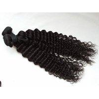 meilleure qualité de cheveux humains vierges achat en gros de-Cheveux Brésiliens de Cheveux Vierges Humains Weaves Extensions Malaysian Indian Cheveux Vierges Profondes Bouclées Bundles Non Transformés G-EASY Meilleure Qualité
