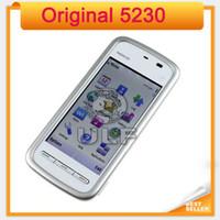 Wholesale Mobile Phone Warranties - Original Nokia 5230 Unlocked 3G 1 Year Warranty single sim card single core Refurbished Mobile phone