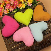 Wholesale Cartoon Heart Pillow - Wholesale Candy Color Cute Large Plush PP Cotton Heart Shape Pillow Pet Toys For Large Dog Bite Resistant Soft Puppy Pet Toys For Dog