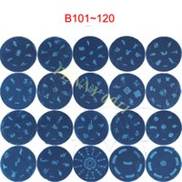 Wholesale Design Plates For Nail Art - 500pcs Nail Art Polish Series B DIA 5.6cm Small Round Image Template Stamping Nail Art 120 Different Designs For You Choose #X044