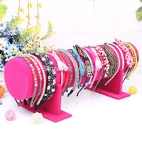 Wholesale headband stands - Wholesale-1pc lot Hot selling New Big Size 50*16.5*11cm Fabric hair jewellery headband display hair band holder stand Hairband Show Shelf