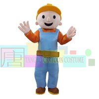 Wholesale Mascot Costume Bob - BOB THE BUILDER ADULT FANCY DRESS MASCOT COSTUME free shipping