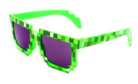 Wholesale Gamer Sunglasses - 50pcs 2016 New Fashion Women Men kid gift Sunglasses Block Pixel Sunglass Computer Nerd Geek Gamer 8 Bit Glasses Unisex Sun Glasses