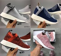 Wholesale Real Size Women - Real picture newest Athletic NMD R2 Runner PK Primeknit Running Shoes Men Women Mesh NMD XR2 nipple Boost Sports Shoes 2018 Size 36-45