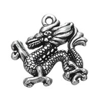 Wholesale chinese dragon pendant wholesale - 2017 Hot Sell Pendant Equestrianism Jewelry Chinese Dragon Zinc Alloy Charms DIY for Necklace&Bracelet Free Shipping