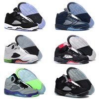 Wholesale Grape Jam - 2016 Man Air Retro 5 Basketball Shoes space jam Metallic Silver Bean Grape Green Bean Mark Ballas bin 23 Trainers Boots Sneaker