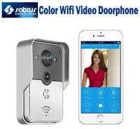 Wholesale Wireless Outdoor Intercom System - 2015 Hot Sale Wireless WIFI Color Video Door Phone Intercom System Motion Detection Peephole Wireless Doorbell Supports App