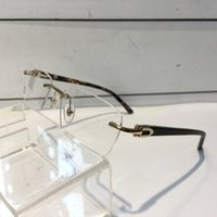 Wholesale frameless eyeglass frames - Luxury Glasses For Men And Women Prescription Eyewear Vintage Frame Men Brand Design Eyeglasses With Original Case Retro Design Gold Plated