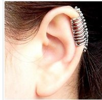 Wholesale Hot New Fashion Punk Vintage earrings Skull vertebrae ear cuff clip earrings for women earring Jewelry
