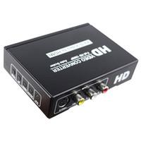 ingrosso s adattatore video convertitore hdmi-Freeshipping RCA CVBS AV Composito Video S-Video Audio a HDMI Convertitore Box 1080p AV2HDMI Convertitore S-Video a hdmi Adattatore