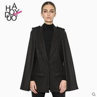 Wholesale Trendy Womens Outerwear - 2015 hot women jacket wool blends Womens New Trendy Thicken Hoodie Casual Coat Outerwear Autumn Winter free 302