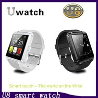 reloj gps de calidad al por mayor-U8 Bluetooth Smart Watch U de calidad superior Relojes Reloj de pulsera Reloj inteligente para iPhone 4 4S 5 5S Samsung S4 S5 HTC Teléfonos con Android Android 1