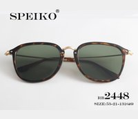 sport glasses frames 2018 - 2448NF Sunglasses SPEIKO Luxury brand designer sunglasses 53MM round style frames with logo UV-400 lenses with original case