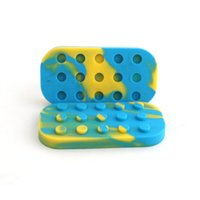 Wholesale oil can silicone resale online - 6 Nonstick Wax Containers silicone box big rubber wax can Silicon container wax jars dab storage dabber jar custom bho oil vape DHL