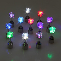 Wholesale Wholesale Unique Lighting - 1 Piece Fashion LED Luminous Earrings For Women 2015 New Party Unique Jewelry Women Men Led Luminous Light Earrings