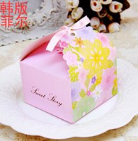 Romantique Hollow Out Wedding Gift and favors Boîte Elegant Pink Luxe Décoration Laser Cut Party Sweet Guest Paper Candy Bag TH137