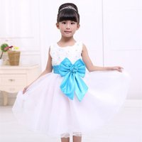 Wholesale Korean Babies Pictures Girls - 2016 Korean Children's Clothing Wholesale Trade Princess Dress Baby Christening Dresses Flower Girl Dresses for Wedding